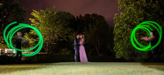 Spettacolo con LED per matrimonio