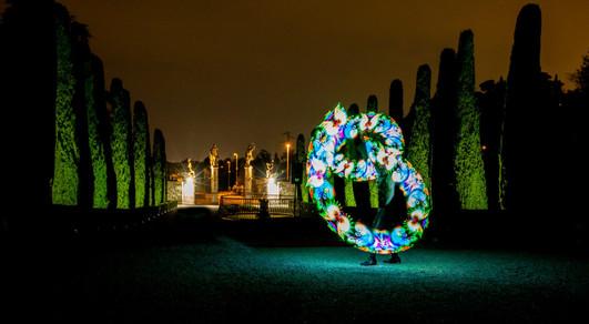 Spettacolo con LED visuali per matrimonio