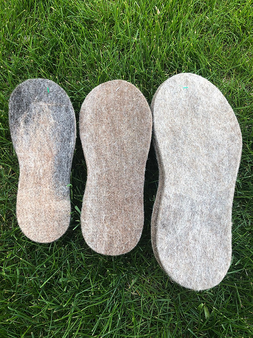 Felted Boot Insoles