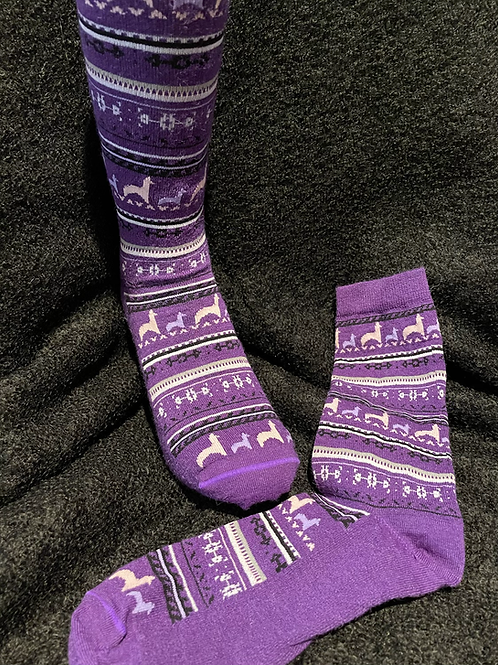 Print Crew Socks