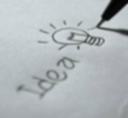 lampadina, idea, matita,