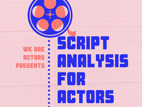 Script Analysis For Actors