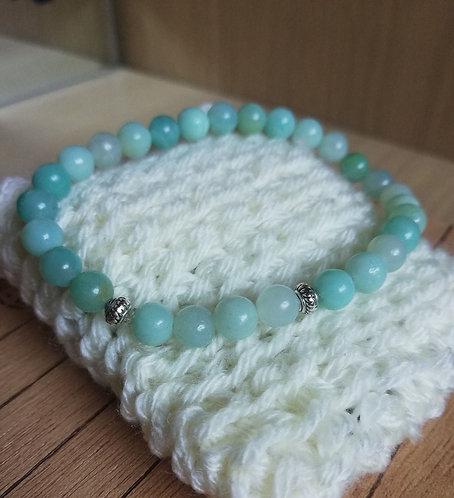 Bracelet en Amazonite Bleue AA