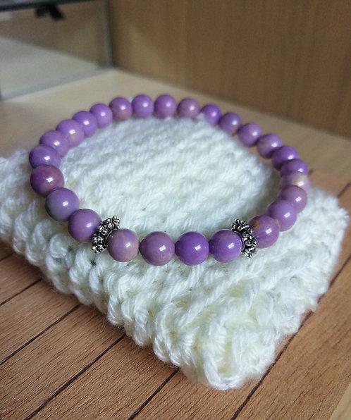 Bracelet en Phosphosidérite A, perles de 6 mm
