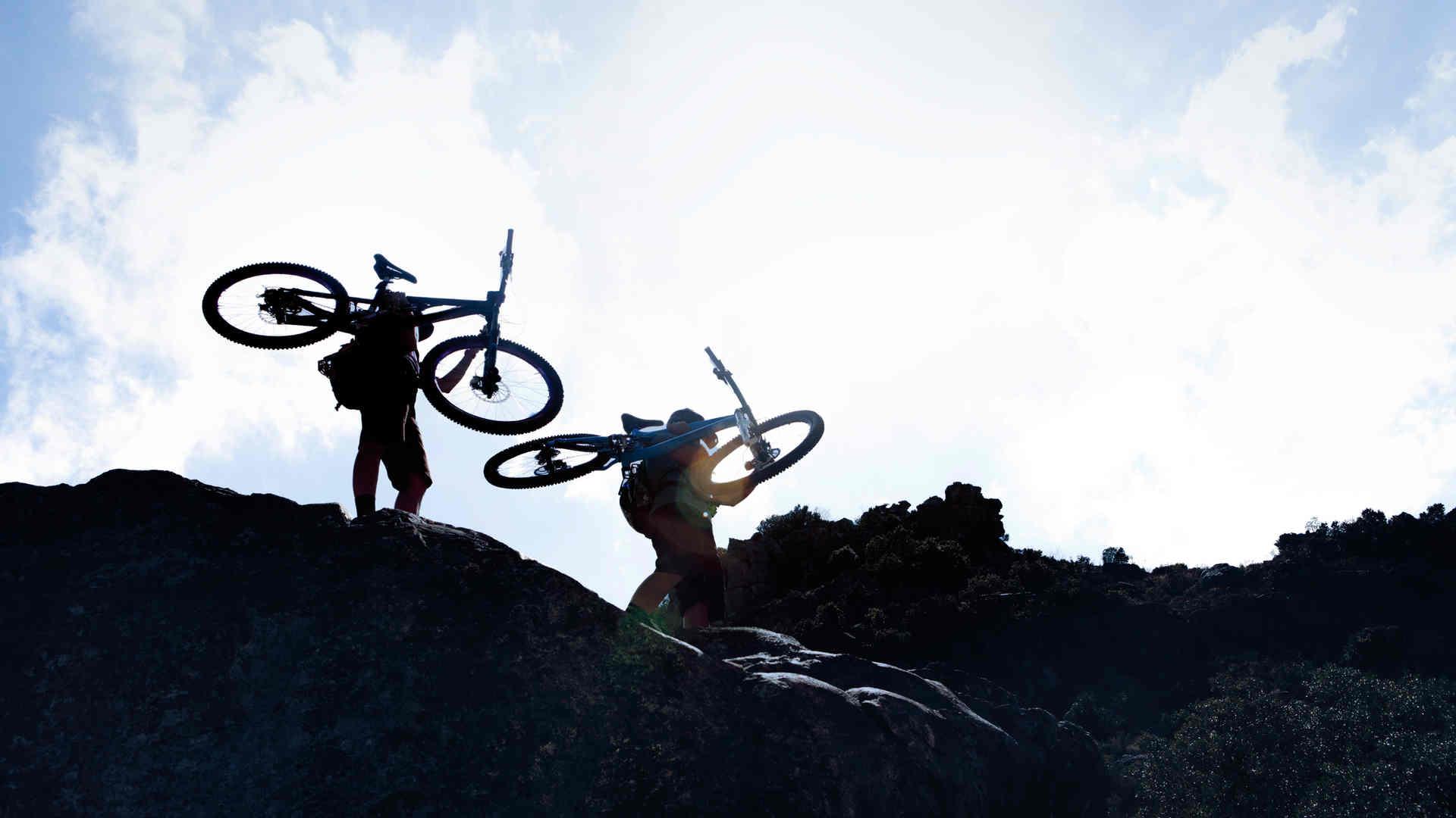 Gli amanti della mountain bike