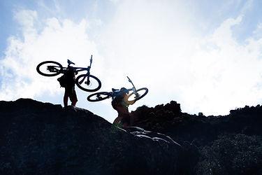 Los ciclistas de montaña