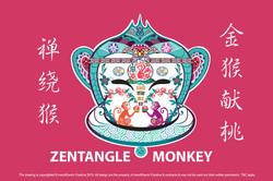 Zentangle Monkey