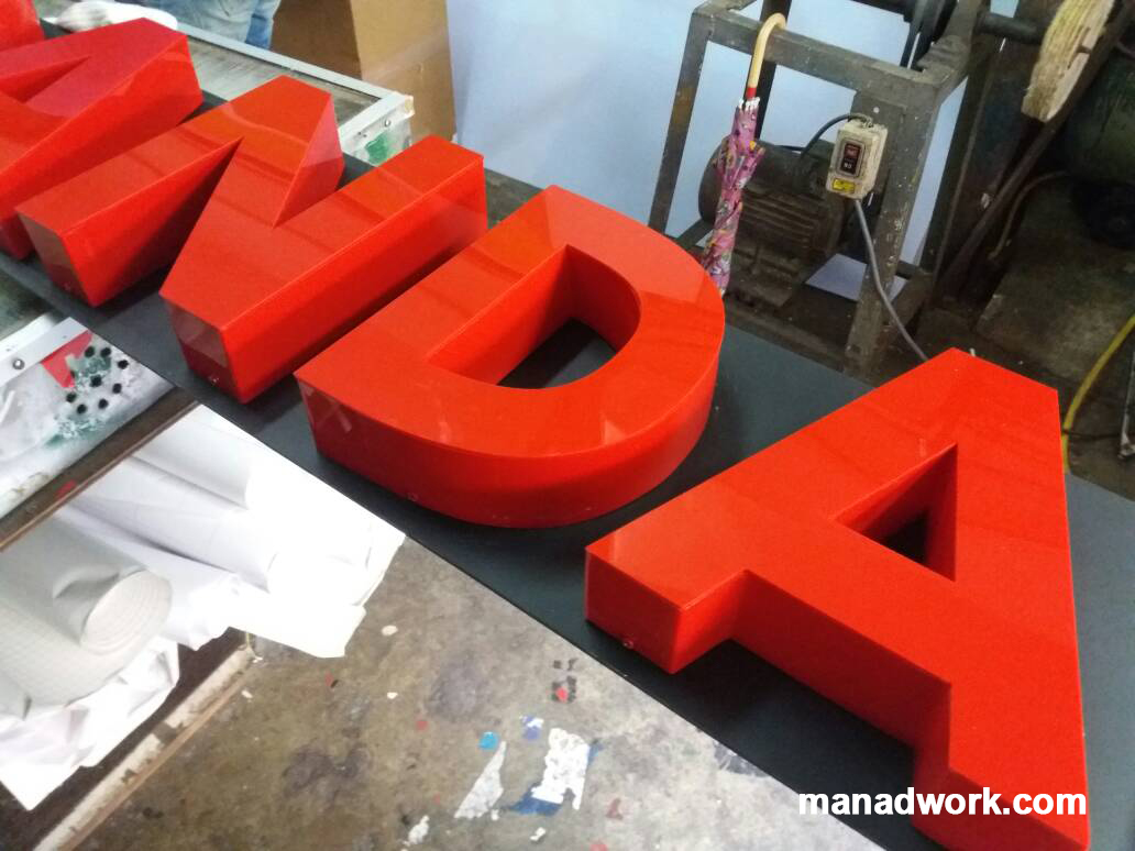 Custom 3D sign 04