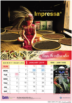 Impressa Calendar 2019