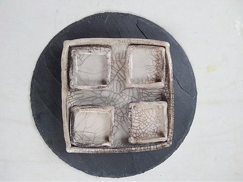 Service à sushi 5 pièces en céramique raku Sandrine Sueres