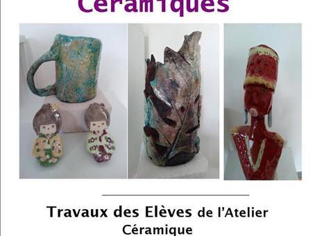 Exposition des élèves de l'atelier céramique de Sandrine Suéres