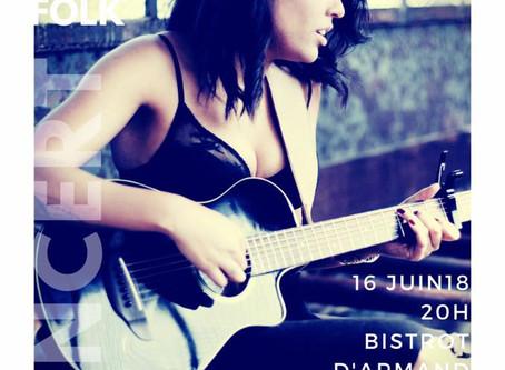 Concert de Kaeve le 16 juin au bistrot d'Armand !