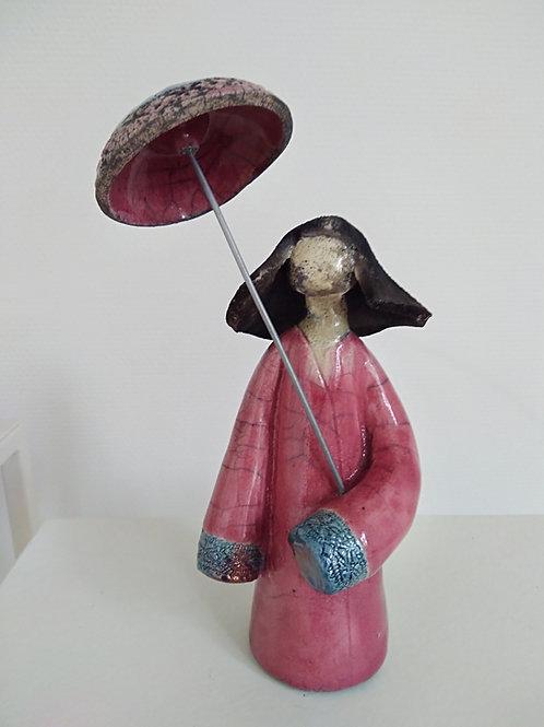 Sculpture céramique Geisha
