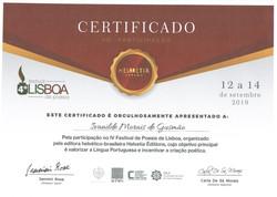 Participação no IV Festival de Poesia de Lisboa organizado pela Editora helvético
