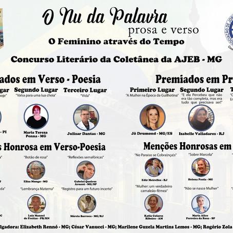 Ivanilde Morais de Gusmão é premiada pela AJEB de Minas Gerais.