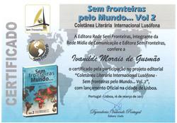"""Participação no projeto editorial """"Coletânea Literária Internacional Lusófona – Sem fronteiras pelo"""