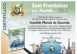 """Participação no projeto editorial """"Coletânea Literária Internacional em Verso & Prosa – Sem Fronteir"""