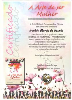 """Participação no projeto """"A Arte de ser Mulher Vol. 2 – Prosa Feminina"""""""