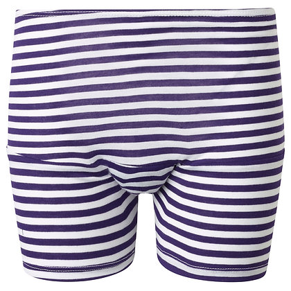 Period Loungewear Sleep Boyshort | Grape Stripes