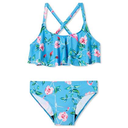 Teen Period Swimwear Ruffle Set   Flamingo