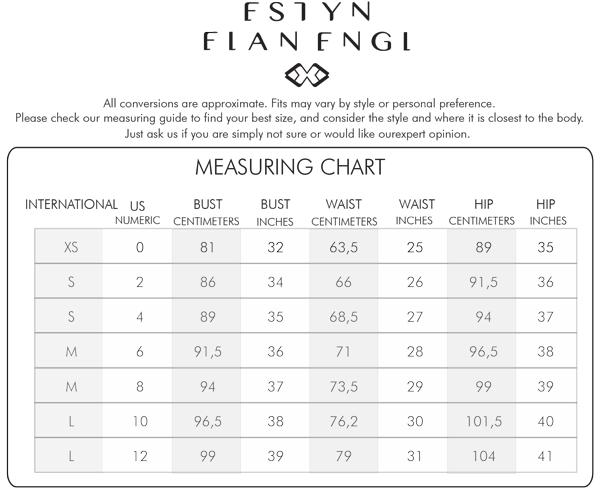 Estyn Elan engl Measuring Guide Chart