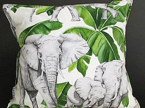 Kissenbezug Ebony Elefant grün