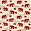 Thumbnail: Kissenbezug Maharaja Elefant rot