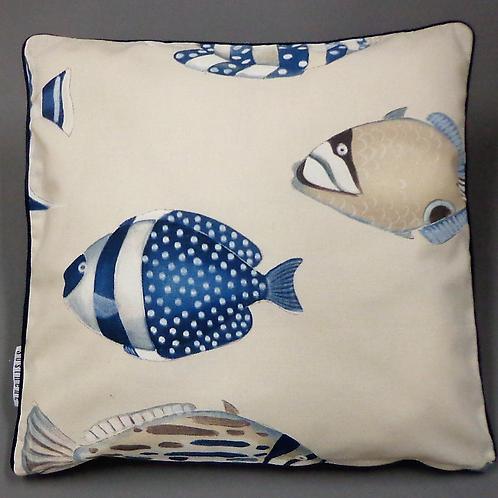 Kissenbezug La vie en bleu Fisch