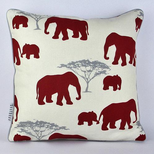 Kissenbezug Maharaja Elefant rot