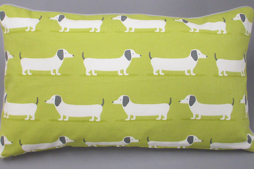 Kissenbezug IM WALD Dackel grün 30 cmx 50 cm