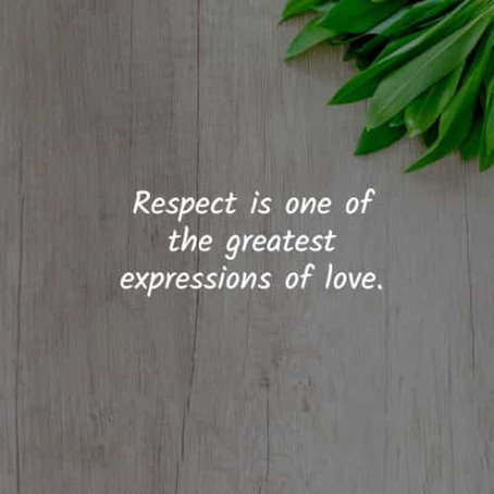 """""""Respect is one of the Greatest Expressions of Love""""             Don Miguel Ruiz"""