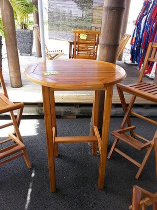 """Table """"Mange Debout"""" Teck"""