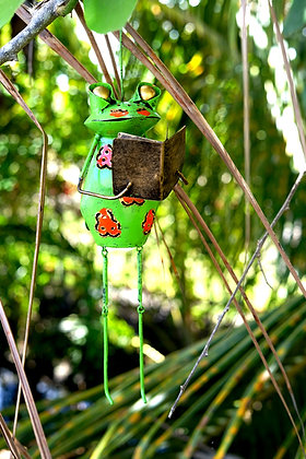 Photophore métalique grenouille