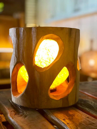 Lampe Racine Teck