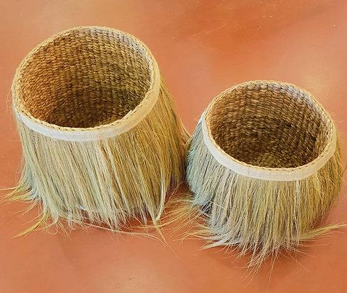 Panier fibre végétale