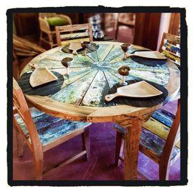Set Table et Chaises en bois de Bateau