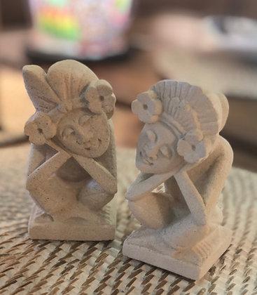 Le couple de divinités Balinais