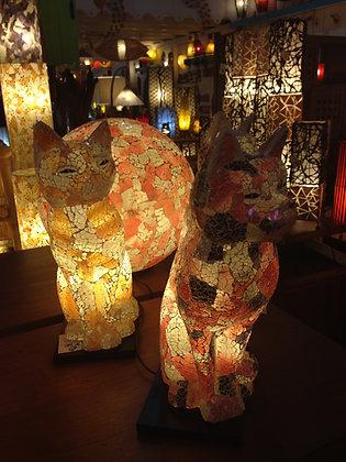 Lampe Chat Mosaïque