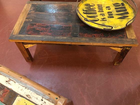 Table basse bois recyclé Guadeloupe