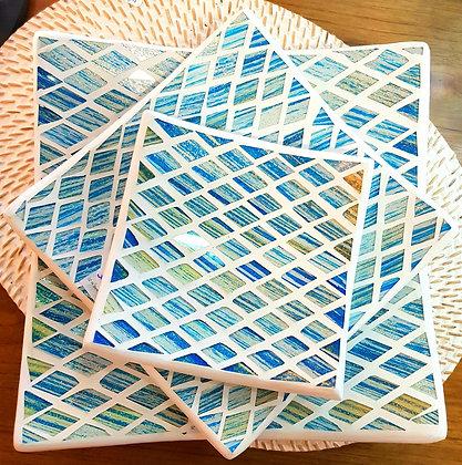Plats mosaïques carré