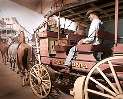 Fully restored stagecoach