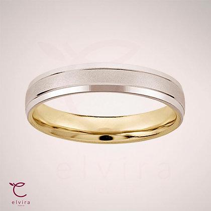Argolla matrimonial oro blanco 14k