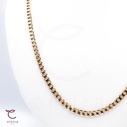 Cadena tejido barbado de oro 10k