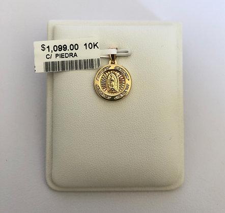Medalla Virgen de Guadalupe con zirconias