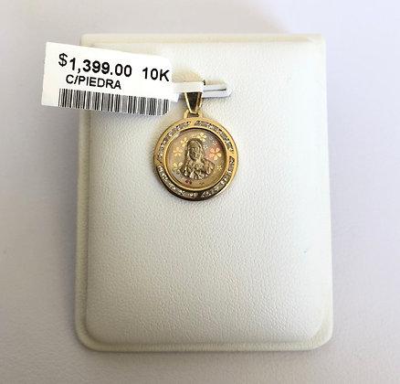 Medalla del Sagrado Corazón con zirconias