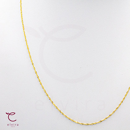 Cadena delgada tejido singapur de oro 10k