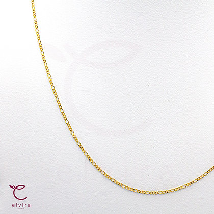 Cadena delgada tejido 3x1 de oro 10k