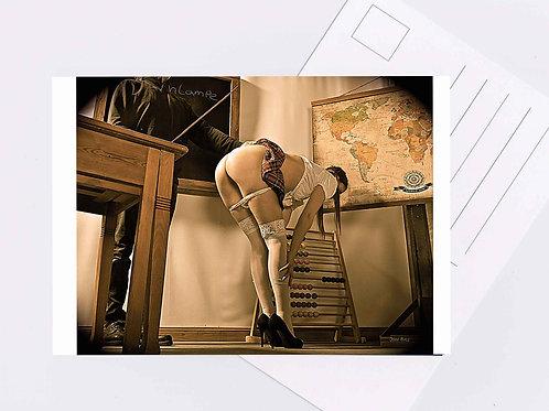 Postkarte Nr.7 sm shades devot spanking photo art Fotografie von John bale 2017