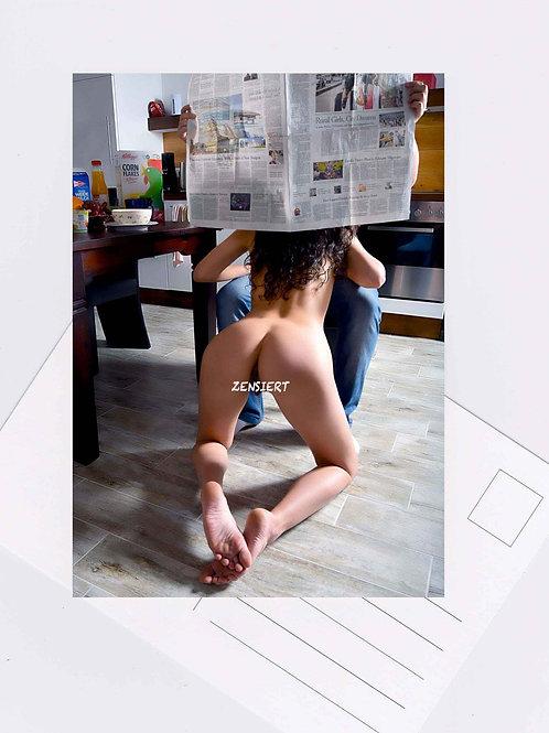 Postkarte Nr.11 bdsm fetish shades Fotografie von John Bale 2017 grey