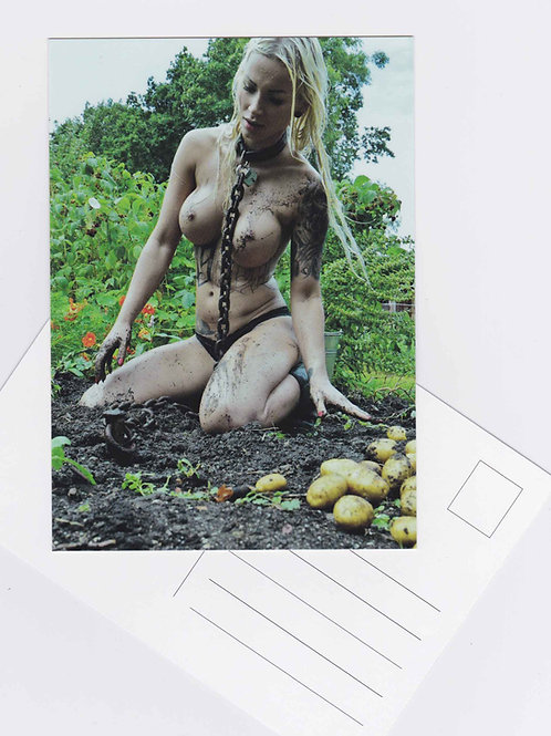 Postcard Nr.12 nude woman sexy fetish art photo sub Fotografie by John Bale 2016